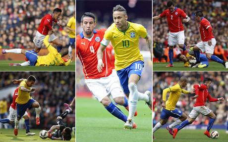 Alexis S�nchez, Neymar y Bravo en el Emirates
