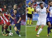 El Barcelona ganó en Girona y el Real Madrid se impuso en Vitoria