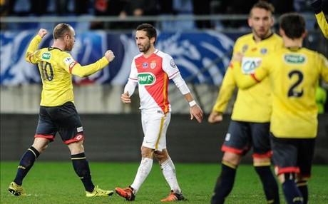 Florian Martin celebra su gol ante Moutinho