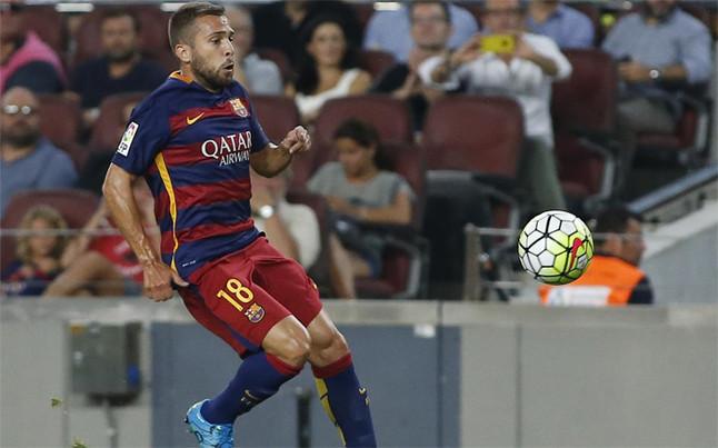 Jordi Alba jugará ante el Athletic