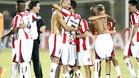 Los jugadores del River Plate uruguayo celebran la clasificaci�n