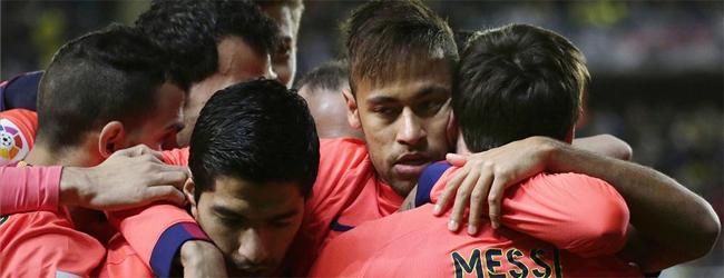 Foto de Luís Suárez y Neymar celebrando un gol