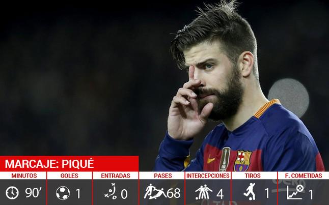Piqu� firma la remontada del FC Barcelona con su primer gol en Liga