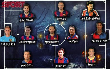 El posible once hist�rico de Halloween del FC Barcelona