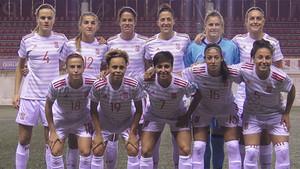 La selección española logró tres puntos de oro ante Serbia