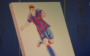 Este es el retrato de Oliver Messi de Yoichi Takahashi