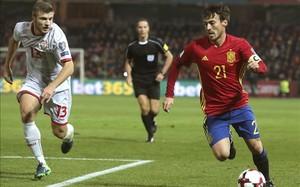 David Silva fue titular ante Macedonia