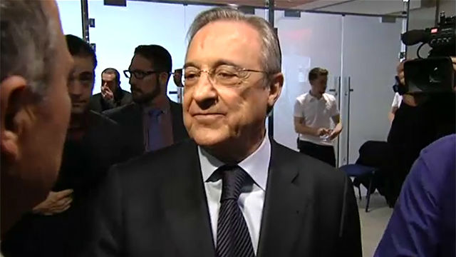 Florentino Pérez habló sobre las obras del Bernabéu