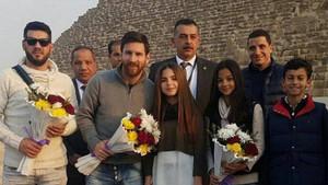 Messi, en Egipto