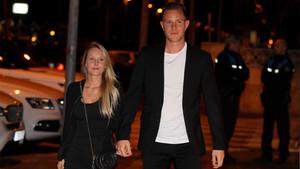 El portero del FC Barcelona Marc-André Ter Stegen y su novia Daniela Jehle