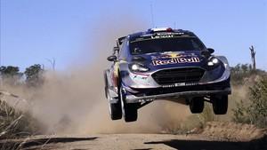 Ogier, en acción, durante el Rally de Argentina