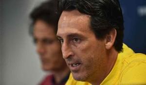 Emery, en la rueda de prensa del PSG