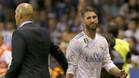 Zinedine Zidane con su capitán Sergio Ramos
