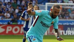 Aleix Vidal ha regresado este sábado a los terrenos de juego después de más de un mes y medio