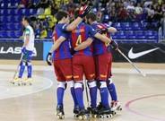 El Bar�a celebr� hasta siete goles en el Palau
