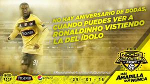 El cartel del partido, con Ronaldinho de gran reclamo