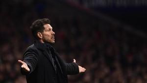Diego Pablo Simeone lamentó las ocasiones perdidas por el Atlético en el derbi ante el Real Madrid