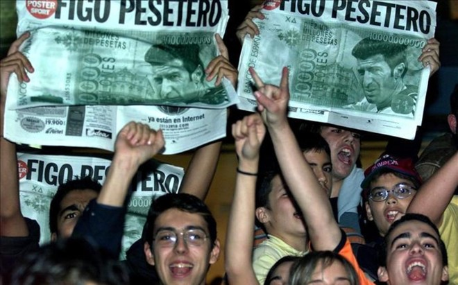 Figo siempre ser� recordado por la afici�n del FC Barcelona como un pesetero