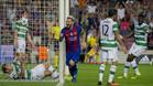 Leo Messi celebra uno de sus goles en el 7-0 del Barça-Celtic de la Champions 2016/17
