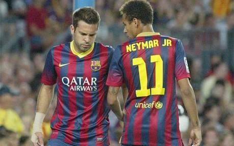 Neymar y Alba