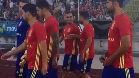 Paco Alc�cer y Jordi Alba conversaron en el entrenamiento de la Roja