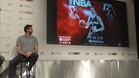 Pau Gasol, durante la presentaci�n del videojuego de la NBA
