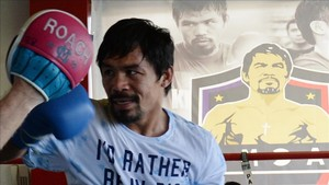 El pugil filipino Manny Pacquiao