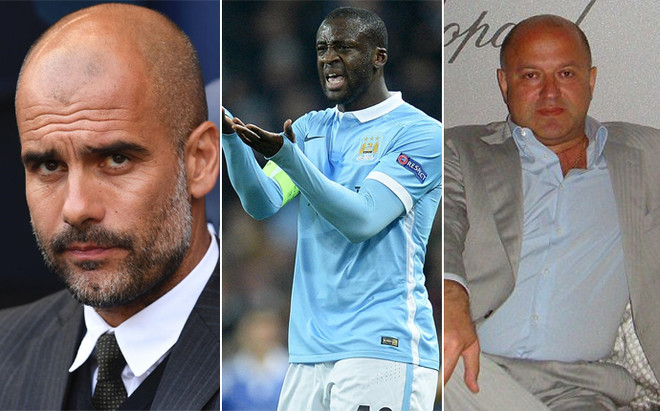 Image result for Yaya Toure Pep Guardiola Dimitri Seluk