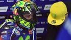 Valentino Rossi, en el box durante los ensayos del GP de Australia