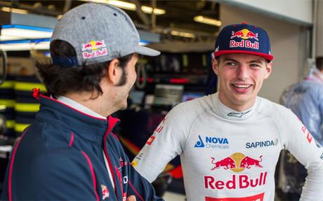 Verstappen, hasta ahora con Sainz en Toro Rosso