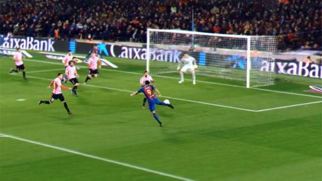 El golazo de Luis Suárez en el FC Barcelona - Athletic Club (3-1). Vuelta octavos Copa del Rey 16-17
