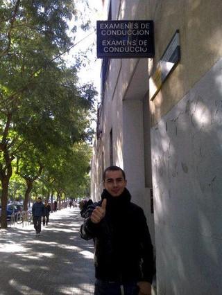 Jorge Lorenzo, a la salida del examen