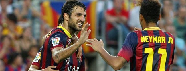 Cesc y Pedro, titulares en Mestalla