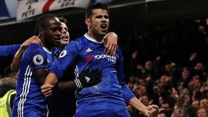 Diego Costa celebró con rabia su gol
