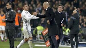 Zidane confía en James Rodríguez