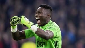 André Onana, en un partido del Ajax esta temporada