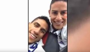 James Rodríguez grabó la fiesta en el avión