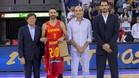 Navarro recibió un emotivo homenaje por sus 240 internacionalidades