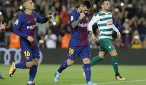 Como siempre, Messi fue la referencia ofensiva del equipo