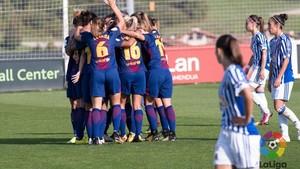 El Barça femino sigue sumando de tres en tres