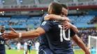 Benzema y Valbuena, con Francia