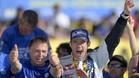 Capito, celebrando el t�tulo WRC con Ogier