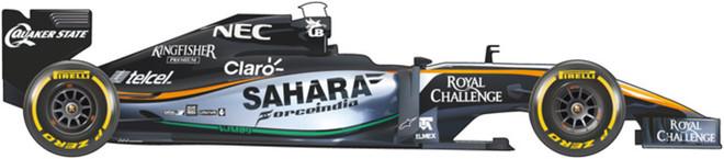 El coche de Force India para el Mundial 2016 de F1