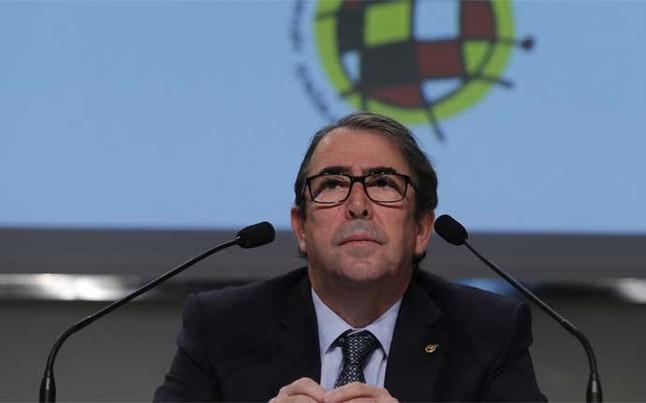 Jorge P�rez quiere a Espa�a en el Camp Nou si preside la Federaci�n
