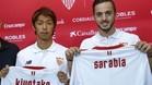 Kiyotake y Sarabia fueron presentados como nuevos jugadores del Sevilla