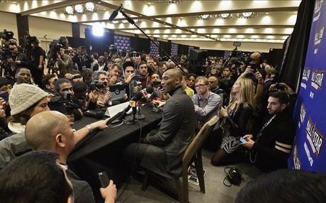 Kobe Bryant se ha llevado la atenci�n de todos los medios en Toronto