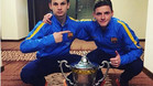 Labinot Kabashi, mejor jugador de la final y Sergio G�mez, mejor jugador de la final
