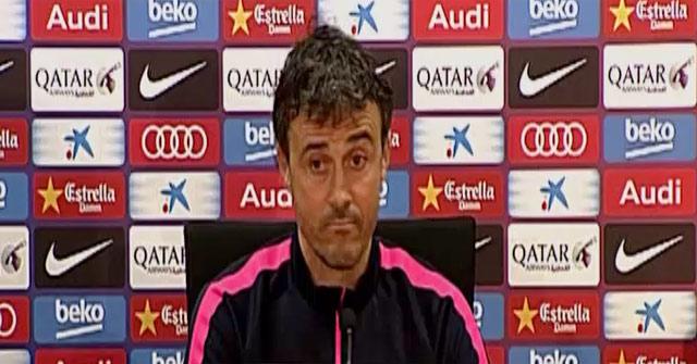 Luis Enrique Mart�nez atendi� a los medios en la previa del Granada - Bar�a