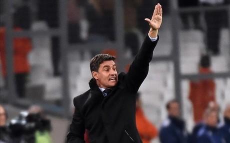 Michel durante un partido del Olympique de Marsella