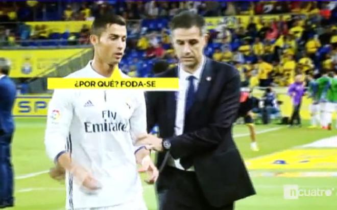 El momento en que Cristiano le dice de todo a Zidane en presencia del delegado
